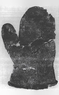 Knitted mitten from 16th century Iceland (Torsteisson, p.164)