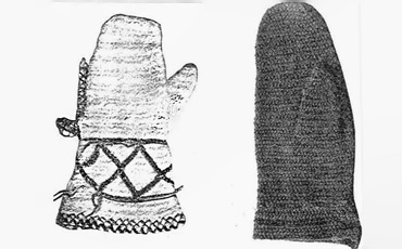 Mittens from 19th century Finland.